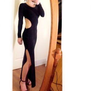 Dresses & Skirts - High Slit cut out dress